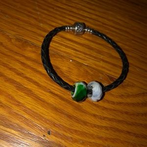 Pandora bracelet with stone beads